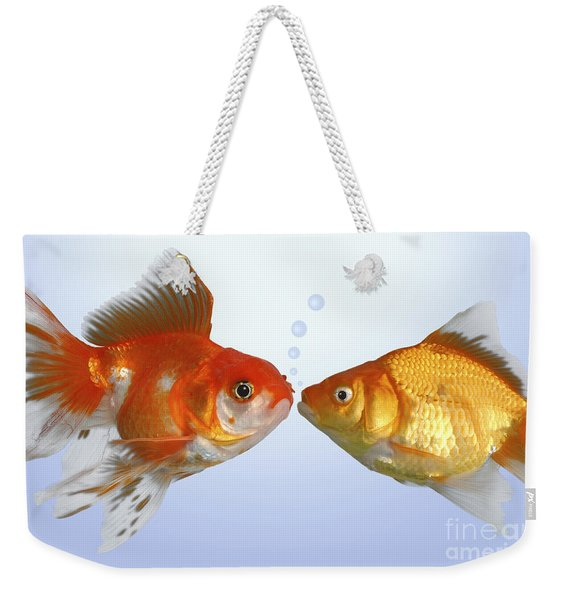 Two Fish Kissing Fs502 Weekender Tote Bag