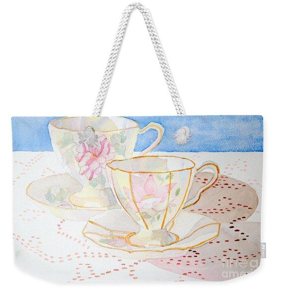 Two For Tea Weekender Tote Bag