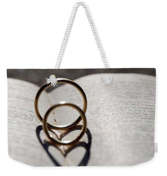 Two Hearts As One Weekender Tote Bag