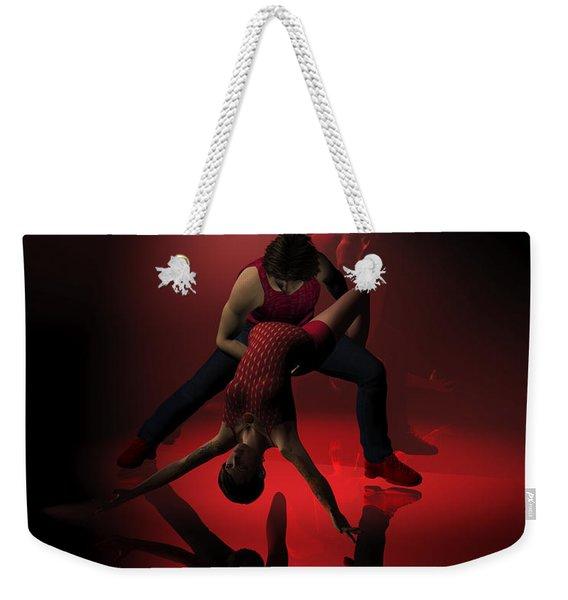 Two Jazz Dancers In Red Weekender Tote Bag