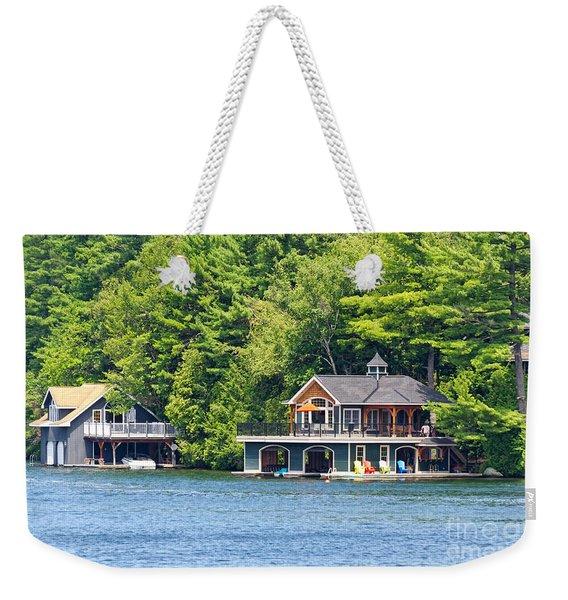 Two Luxury Boathouses Weekender Tote Bag