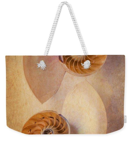 Two Nautilus Shells Weekender Tote Bag