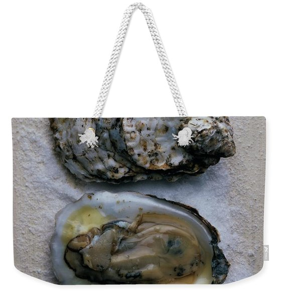 Two Oysters Weekender Tote Bag