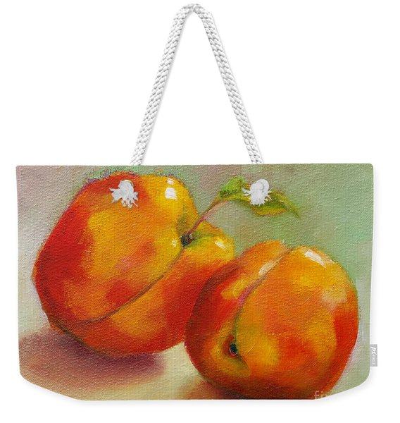 Two Peaches Weekender Tote Bag