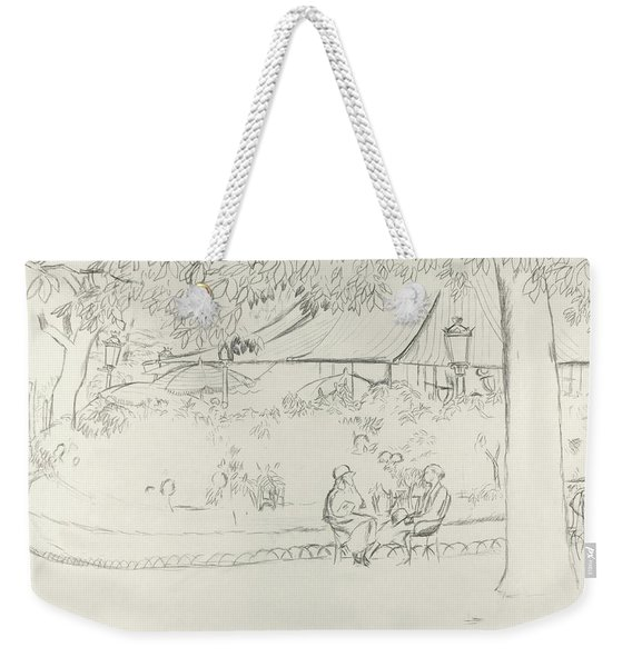 Two People At A Small Park Weekender Tote Bag