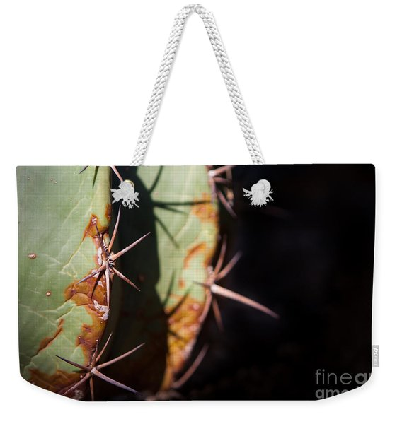 Weekender Tote Bag featuring the photograph Two Shades Of Cactus by John Wadleigh