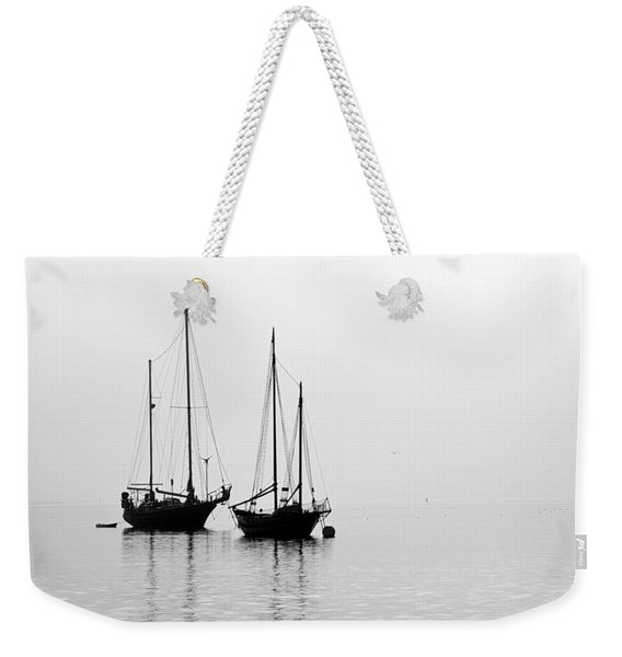Two Ships In The Fog Weekender Tote Bag