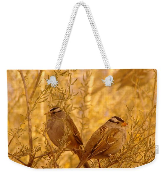 Two Small Birds Weekender Tote Bag