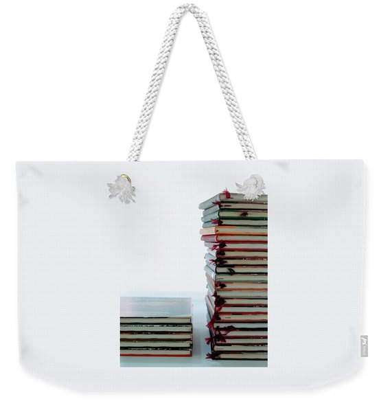Two Stacks Of Books Weekender Tote Bag
