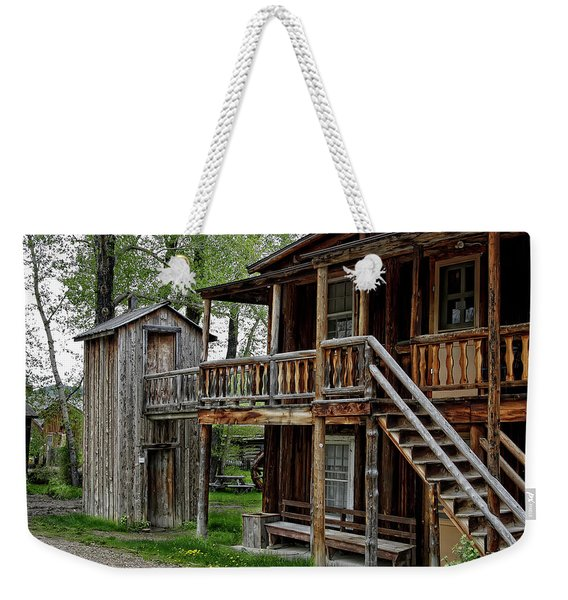 Two Story Outhouse - Nevada City Montana Weekender Tote Bag