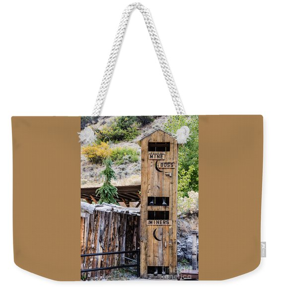 Two-story Outhouse Weekender Tote Bag