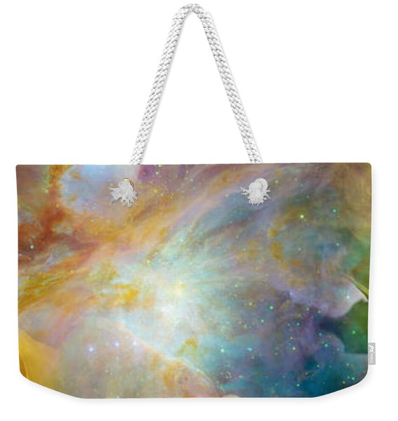 Two Sunflowers With Gaseous Nebula Weekender Tote Bag