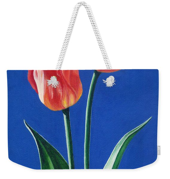 Two Tulips Weekender Tote Bag