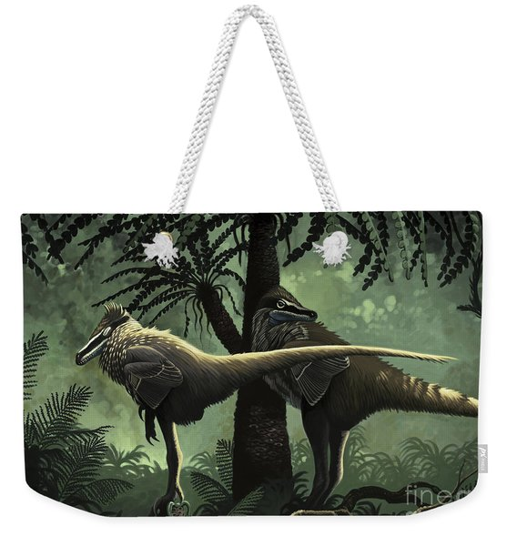 Two Variraptor Mechinorum Rest Weekender Tote Bag