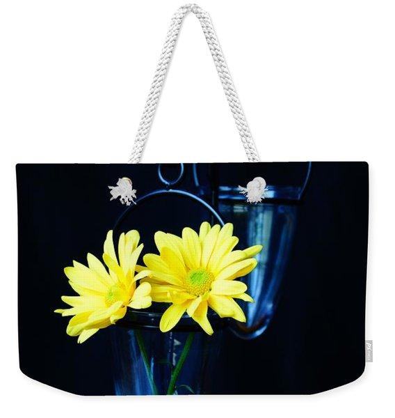Two Yellow Daisies Weekender Tote Bag