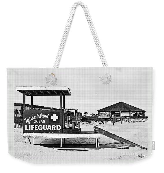 Tybee Island Lifeguard Stand Weekender Tote Bag