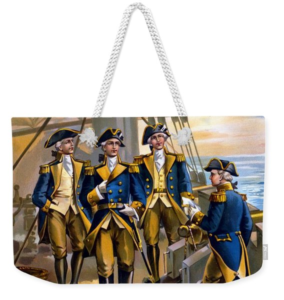 U S Navy Commander In Chief Of The Fleet Weekender Tote Bag