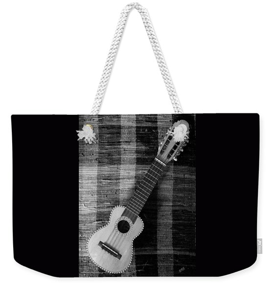 Ukulele Still Life In Black And White Weekender Tote Bag