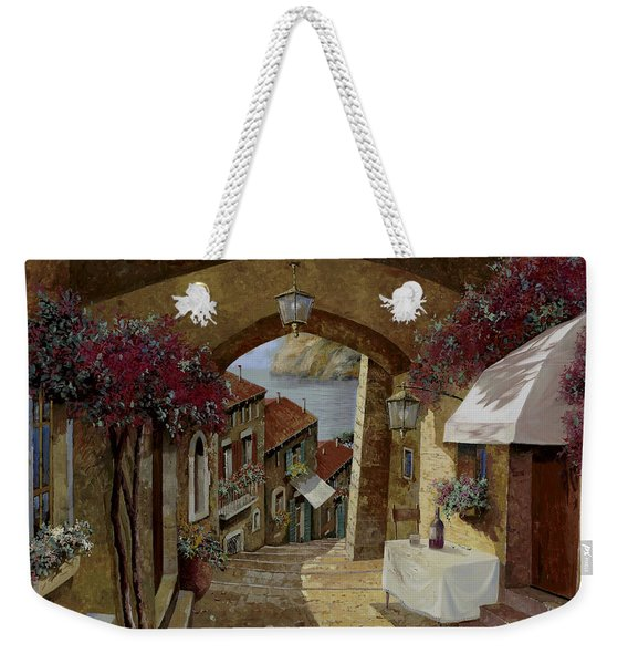 Un Bicchiere Sotto Il Lampione Weekender Tote Bag