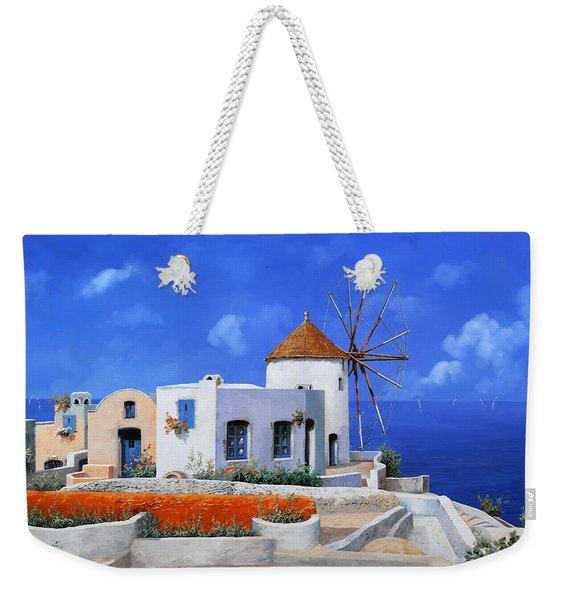 un mulino in Grecia Weekender Tote Bag