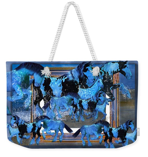 Unconfined World Confined Weekender Tote Bag