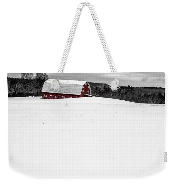 Under A Blanket Of Snow Christmas On The Farm Weekender Tote Bag