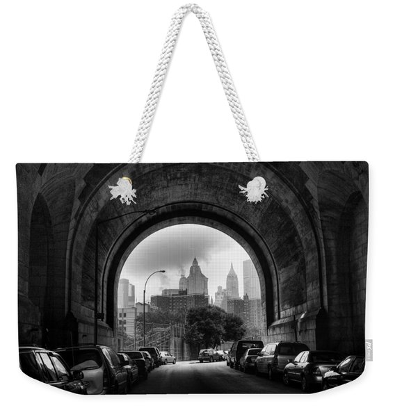 New York City - Manhattan Bridge - Under Weekender Tote Bag
