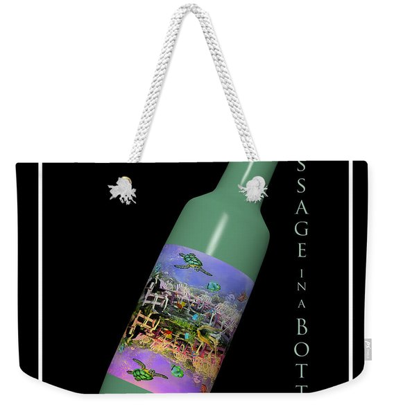 Under The Sea Message In A Bottle Weekender Tote Bag