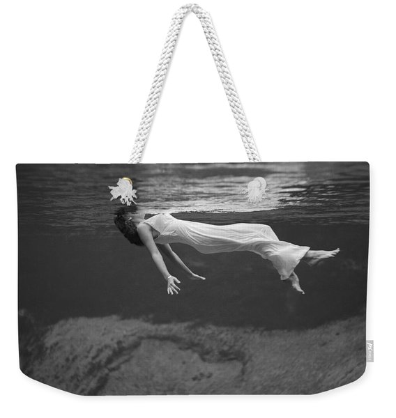 Underwater Fashion Shot Weekender Tote Bag