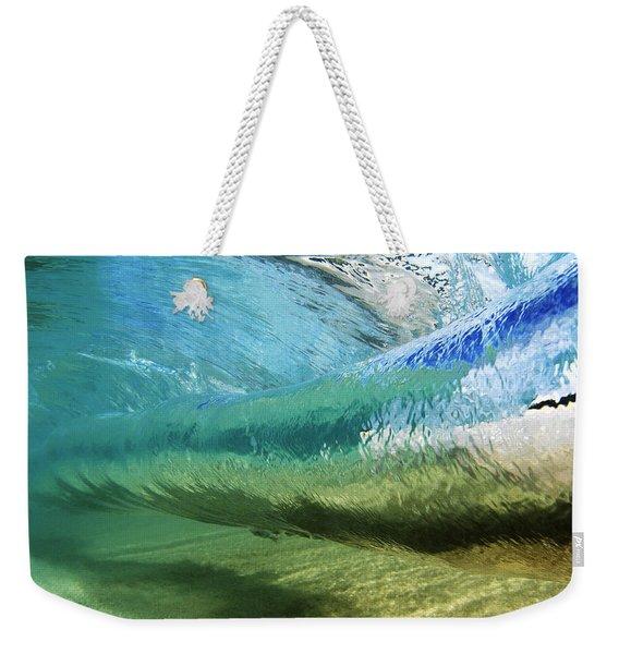 Underwater Wave Curl Weekender Tote Bag