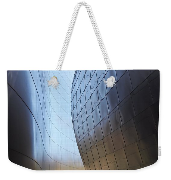 Undulating Steel Weekender Tote Bag