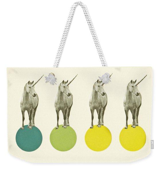 Unicorn Parade Weekender Tote Bag