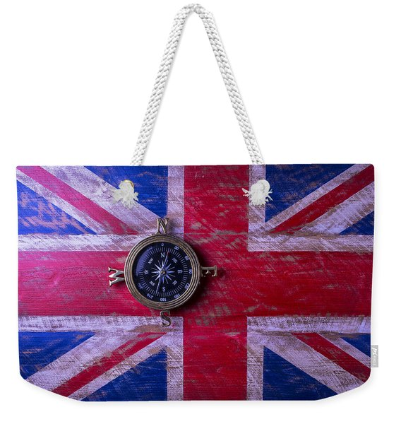 Union Jack And Compass Weekender Tote Bag