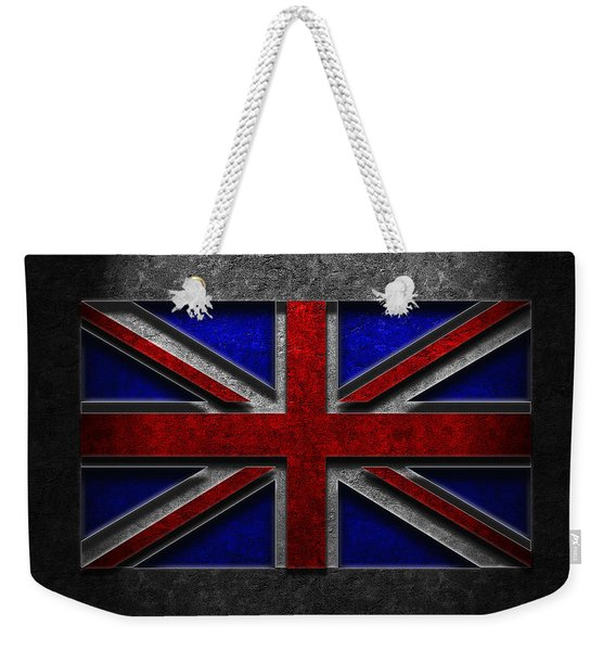Union Jack Stone Texture Weekender Tote Bag