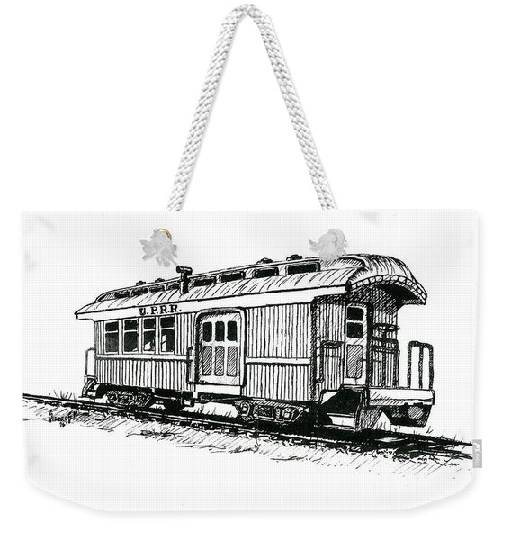 Union Pacific Combine Car Weekender Tote Bag