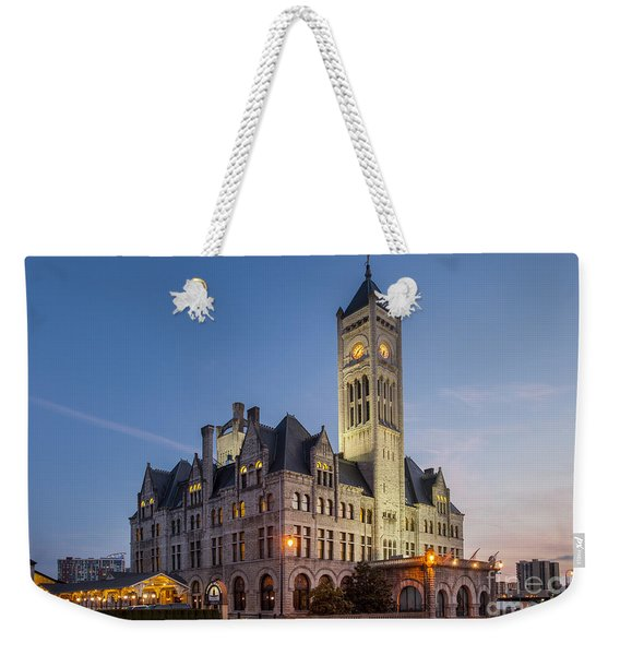 Weekender Tote Bag featuring the photograph Union Station  by Brian Jannsen