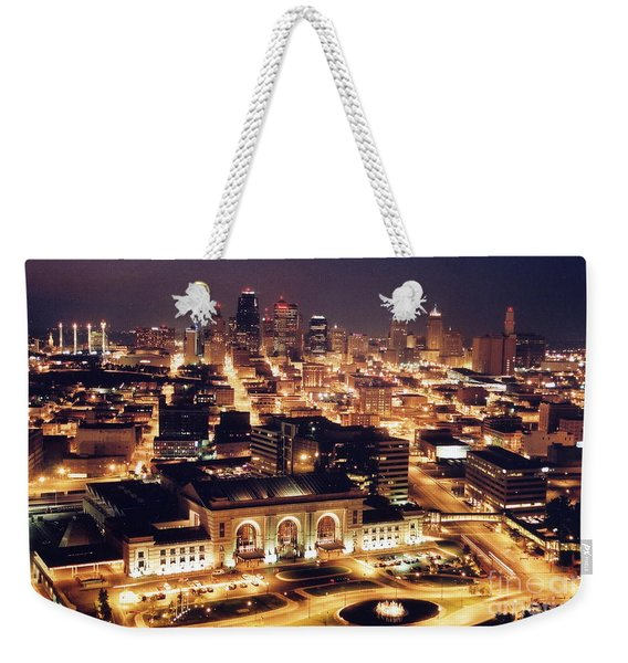 Union Station Night Weekender Tote Bag