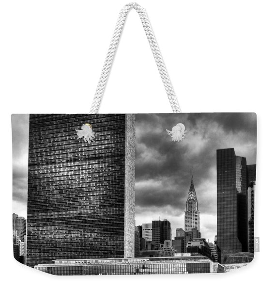 United Nations And Chrysler Building Weekender Tote Bag