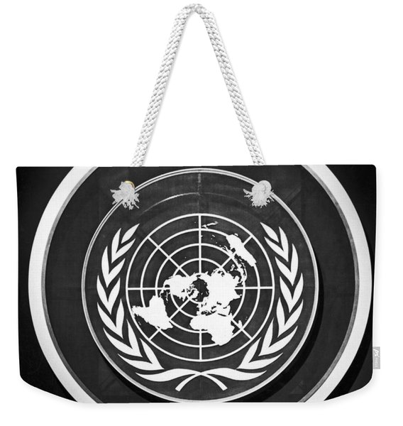 United Nations Symbol Weekender Tote Bag