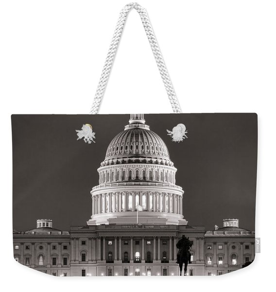 United States Capitol At Night Weekender Tote Bag