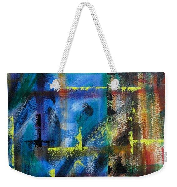 Blue Wall Weekender Tote Bag