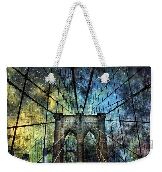 Universe And The Brooklyn Bridge Weekender Tote Bag
