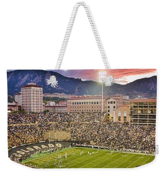 University Of Colorado Boulder Go Buffs Weekender Tote Bag