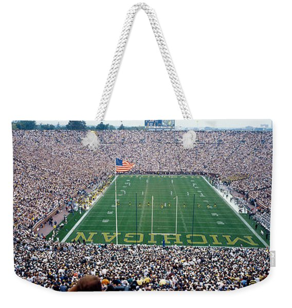 University Of Michigan Football Game Weekender Tote Bag