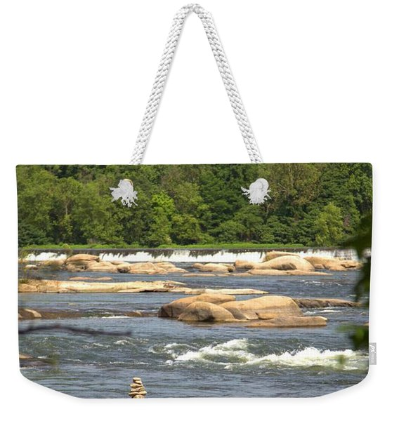 Unnatural Rock Formation Weekender Tote Bag
