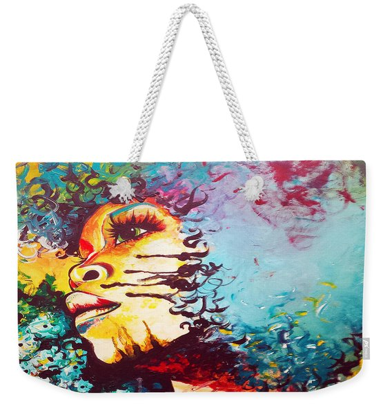 Unstrained Afro Blue Weekender Tote Bag