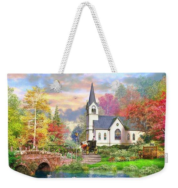 Autumnal Church Weekender Tote Bag