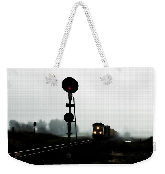 Weekender Tote Bag featuring the photograph Up 8057 by Jim Thompson