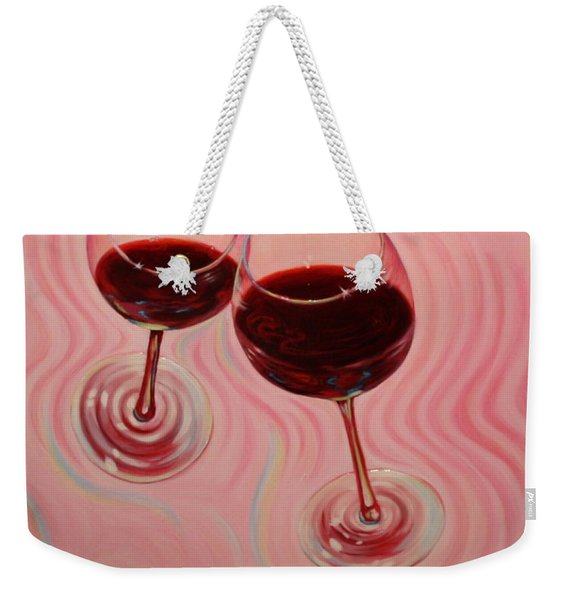 Weekender Tote Bag featuring the painting Uplifting Spirits II by Sandi Whetzel