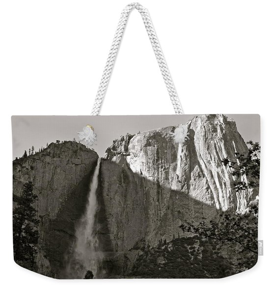Upper Yosemite Falls Composition In Triangles Weekender Tote Bag